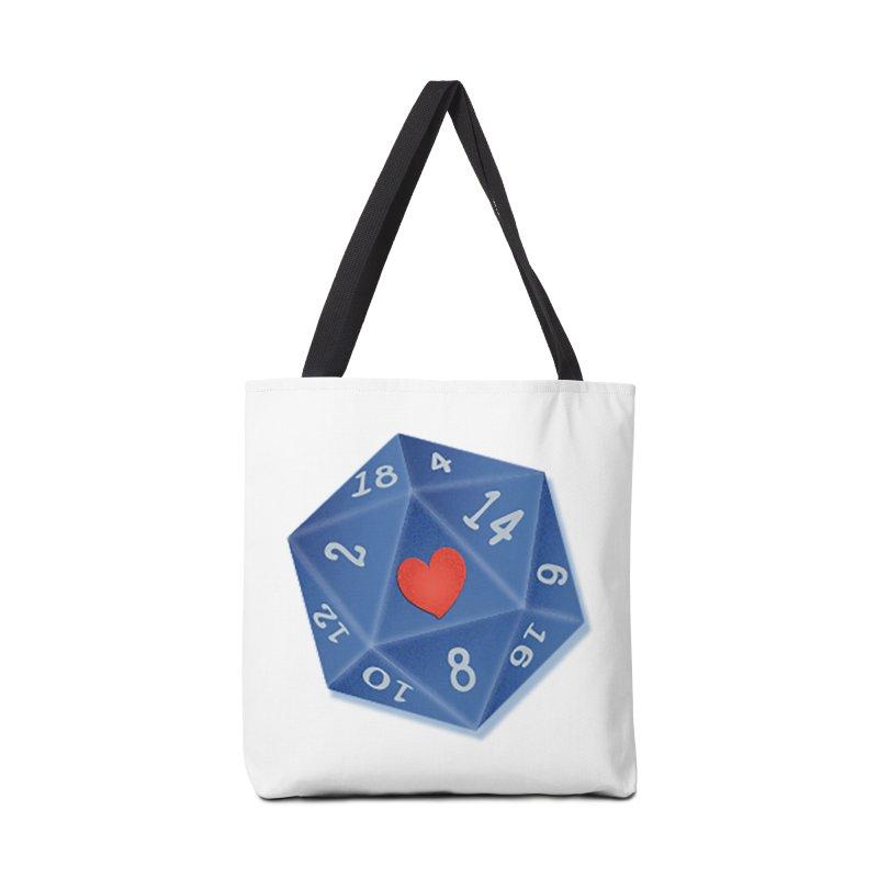 I heart Dice Accessories Bag by ELLA LOVES BOARDGAMES