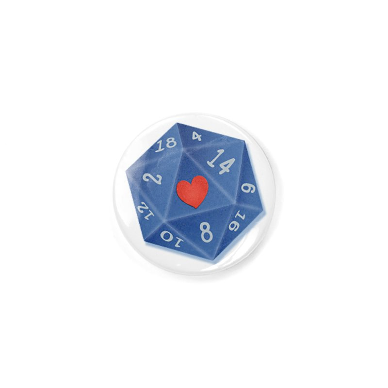 I heart Dice Accessories Button by ELLA LOVES BOARDGAMES