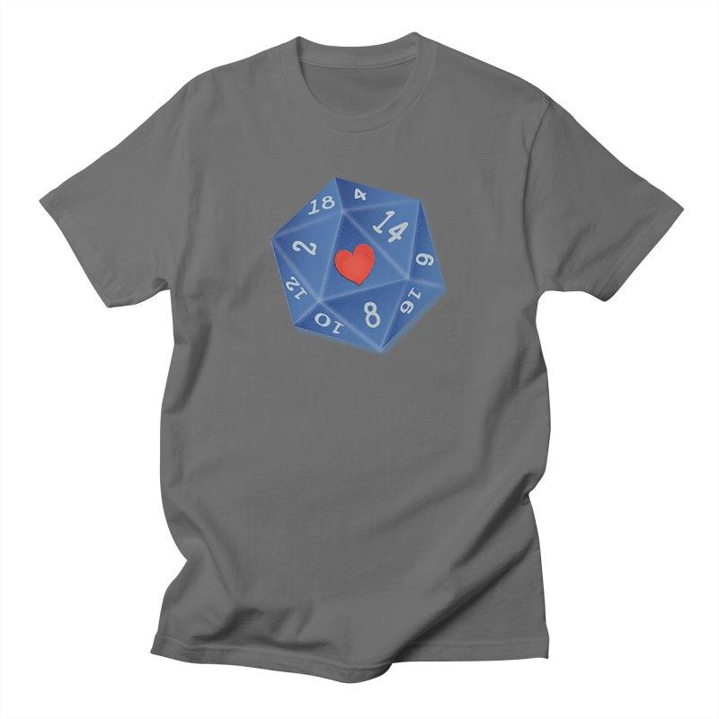 I heart Dice Men's T-Shirt by ELLA LOVES BOARDGAMES