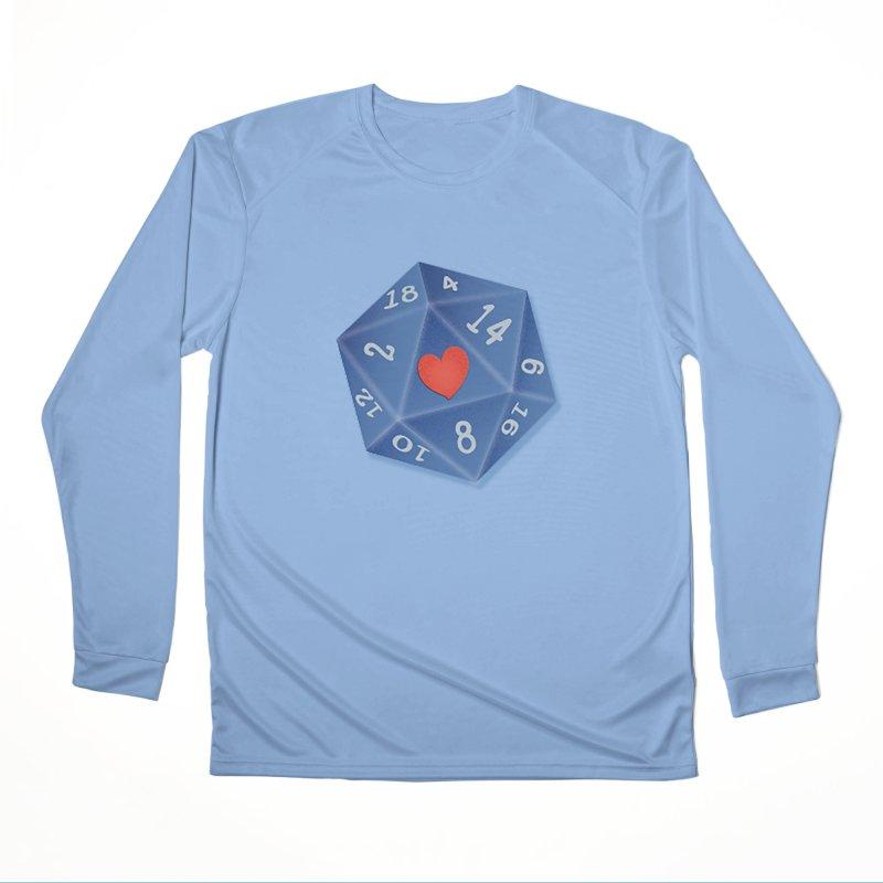 I heart Dice Men's Longsleeve T-Shirt by ELLA LOVES BOARDGAMES