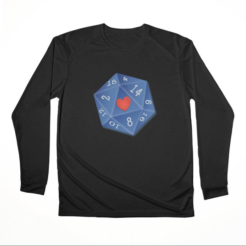 I heart Dice Women's Longsleeve T-Shirt by ELLA LOVES BOARDGAMES