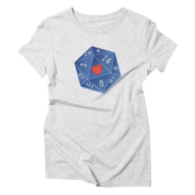 I heart Dice Women's T-Shirt by ELLA LOVES BOARDGAMES