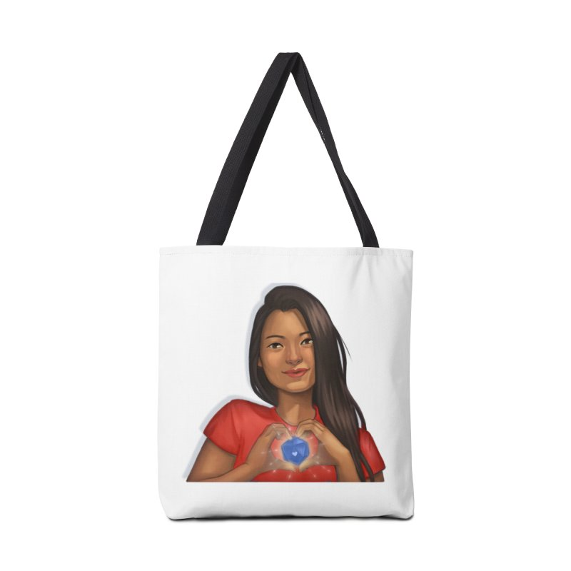 Heart & D20 Accessories Bag by ELLA LOVES BOARDGAMES