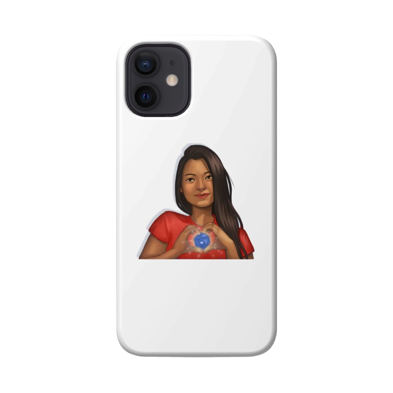 Heart & D20 Accessories Phone Case by ELLA LOVES BOARDGAMES