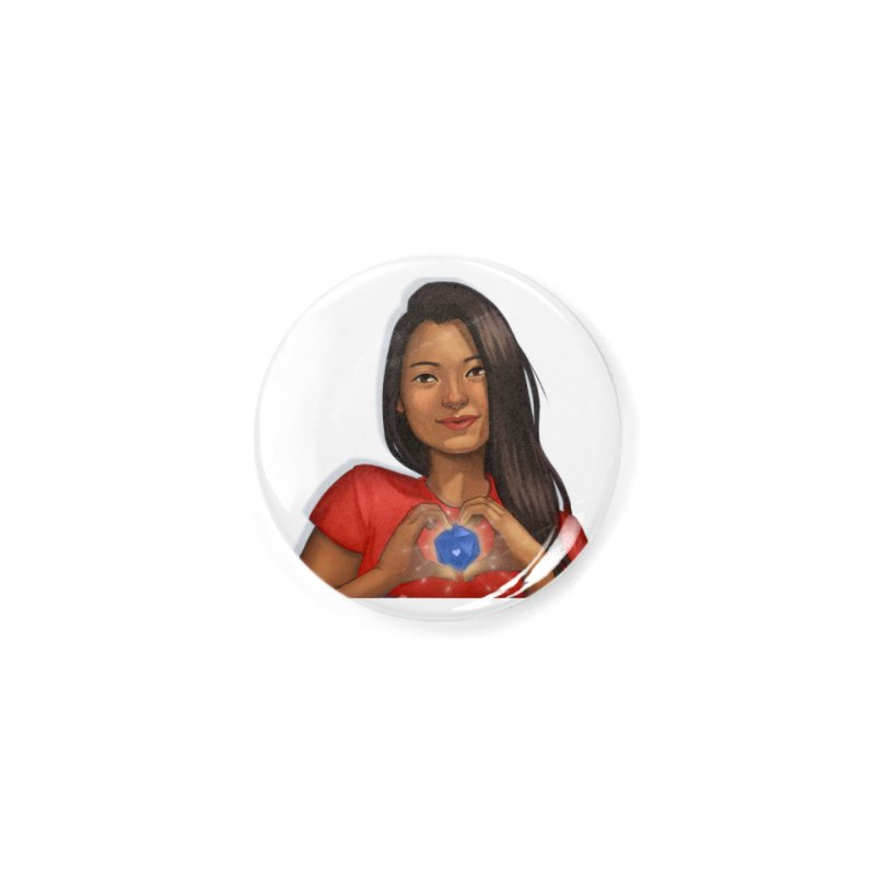 Heart & D20 Accessories Button by ELLA LOVES BOARDGAMES