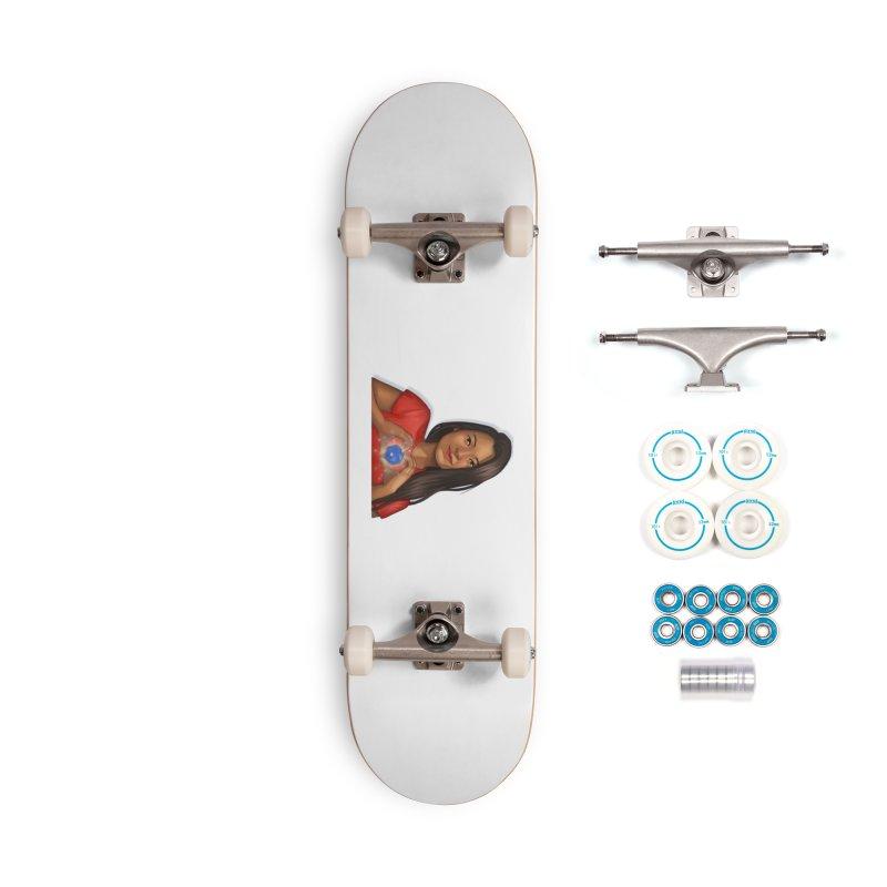Heart & D20 Accessories Skateboard by ELLA LOVES BOARDGAMES
