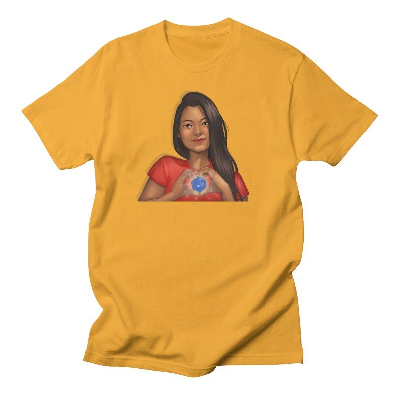 Heart & D20 Men's T-Shirt by ELLA LOVES BOARDGAMES