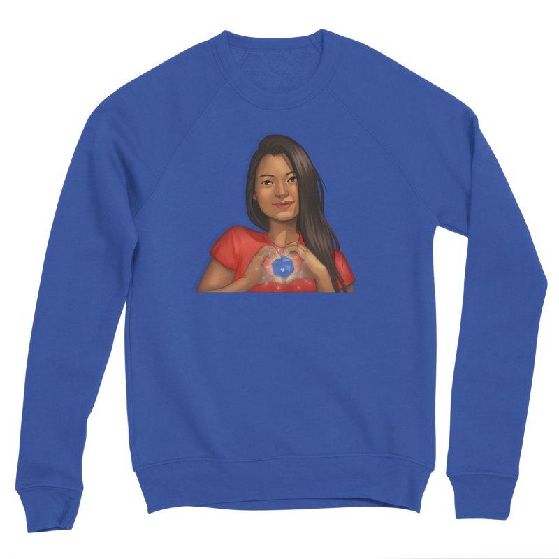 Heart & D20 Men's Sweatshirt by ELLA LOVES BOARDGAMES