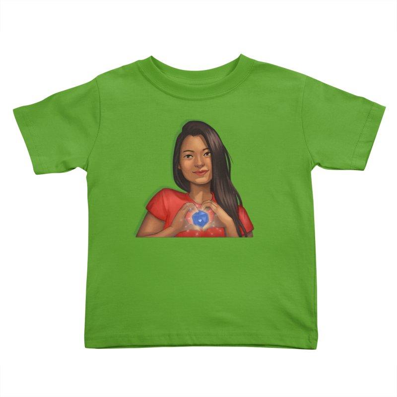 Heart & D20 Kids Toddler T-Shirt by ELLA LOVES BOARDGAMES