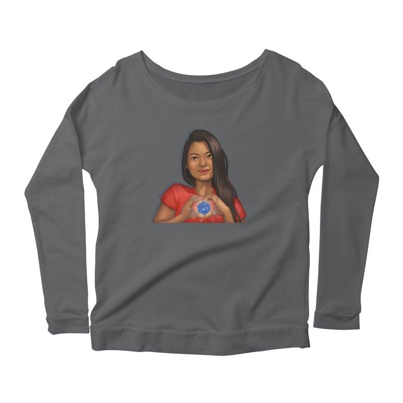 Heart & D20 Women's Longsleeve T-Shirt by ELLA LOVES BOARDGAMES