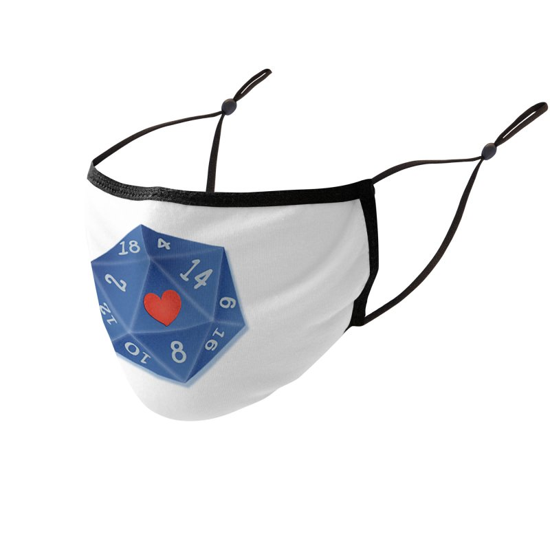 Heart of Dice Accessories Face Mask by ELLA LOVES BOARDGAMES