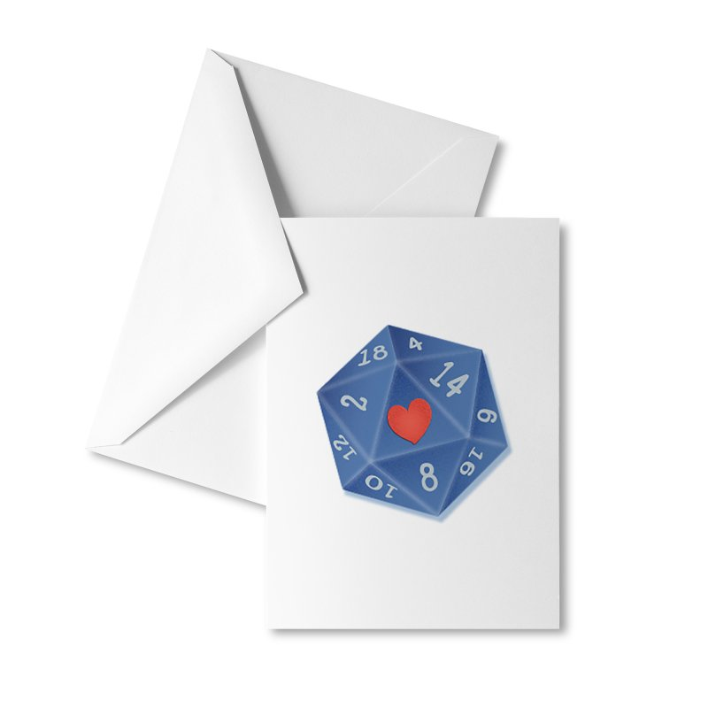 Heart of Dice Accessories Greeting Card by ELLA LOVES BOARDGAMES
