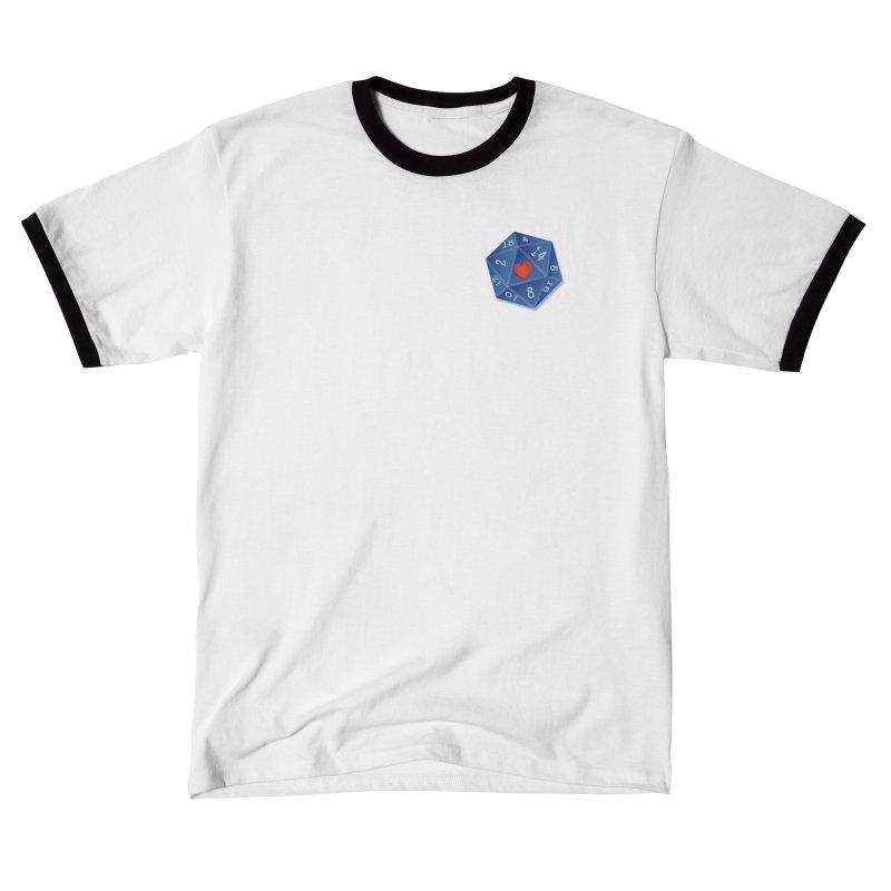 Heart of Dice Men's T-Shirt by ELLA LOVES BOARDGAMES