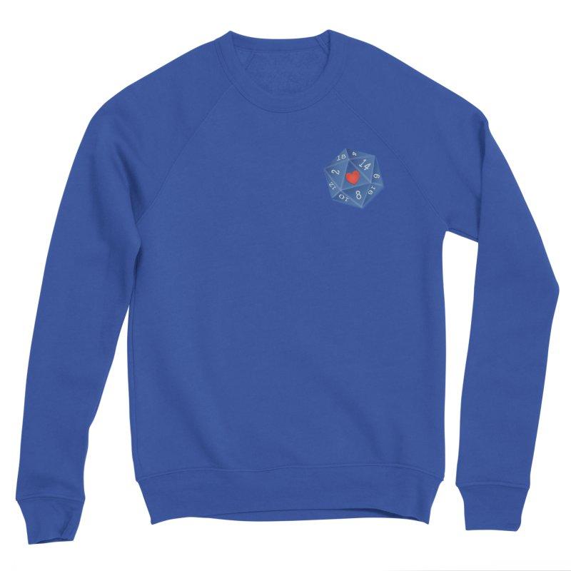 Heart of Dice Men's Sweatshirt by ELLA LOVES BOARDGAMES