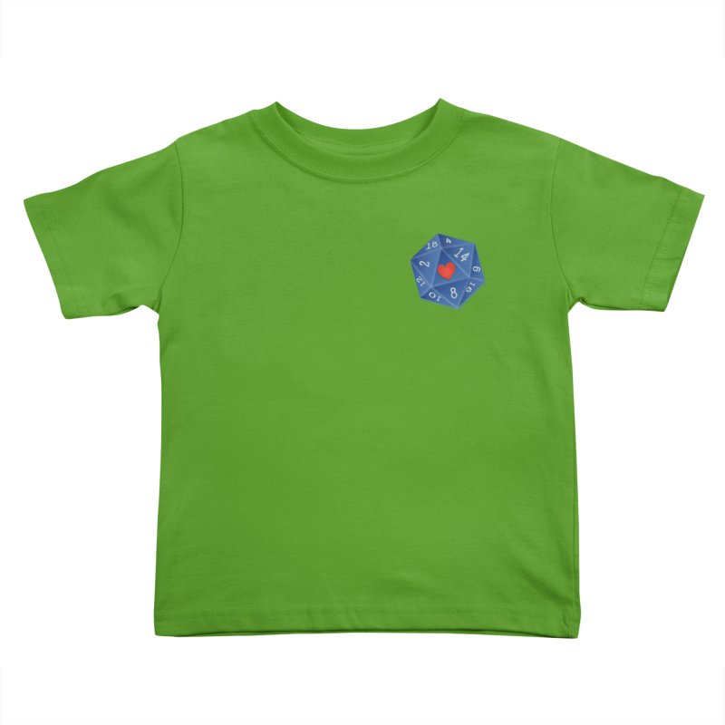 Heart of Dice Kids Toddler T-Shirt by ELLA LOVES BOARDGAMES