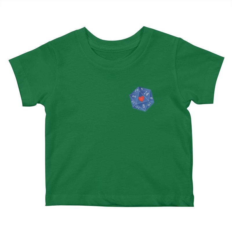 Heart of Dice Kids Baby T-Shirt by ELLA LOVES BOARDGAMES
