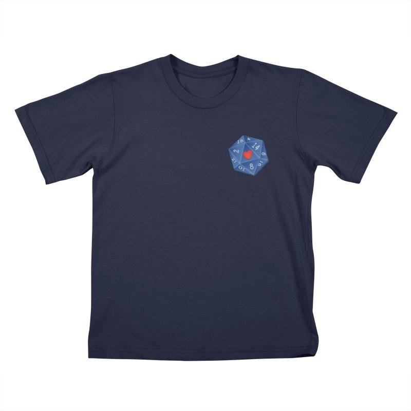 Heart of Dice Kids T-Shirt by ELLA LOVES BOARDGAMES