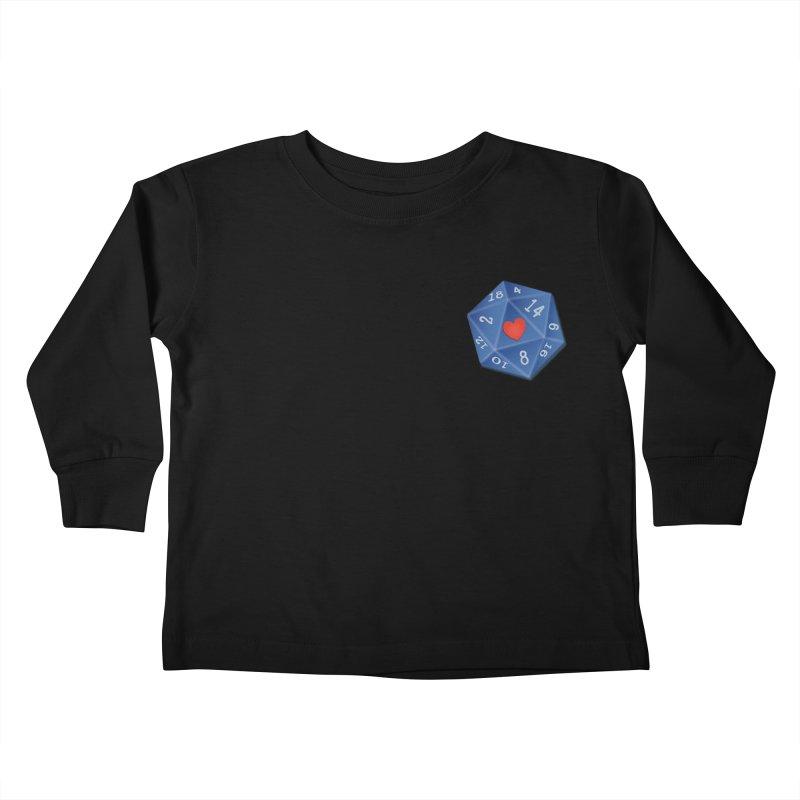 Heart of Dice Kids Toddler Longsleeve T-Shirt by ELLA LOVES BOARDGAMES