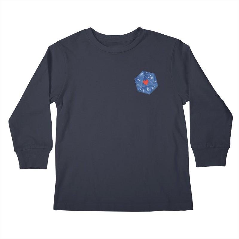 Heart of Dice Kids Longsleeve T-Shirt by ELLA LOVES BOARDGAMES