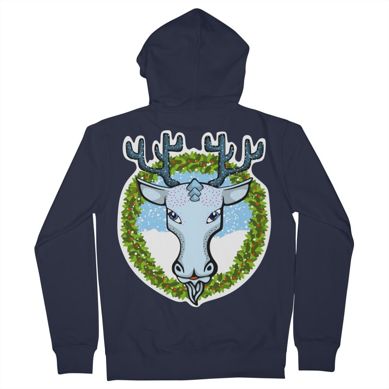 Winter Spirit Animal Men's Zip-Up Hoody by elledeegee's Artist Shop