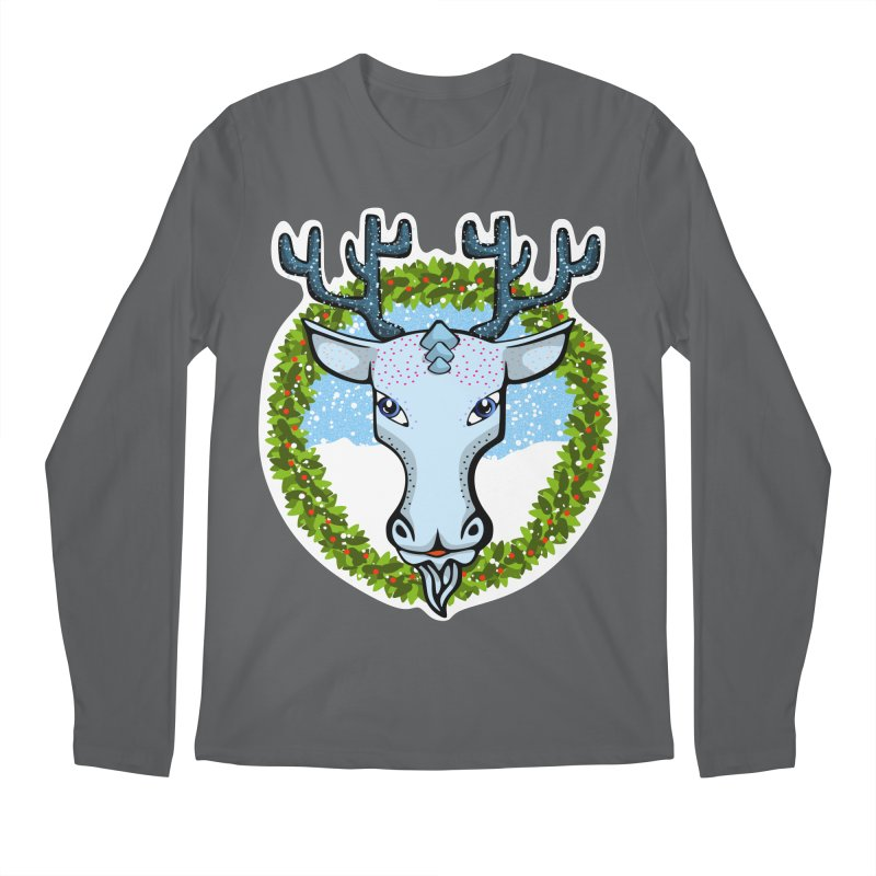 Winter Spirit Animal Men's Longsleeve T-Shirt by elledeegee's Artist Shop