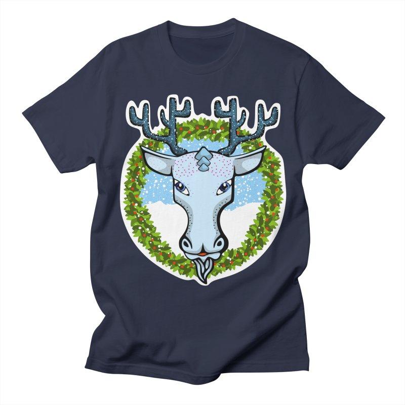 Winter Spirit Animal Men's Regular T-Shirt by elledeegee's Artist Shop