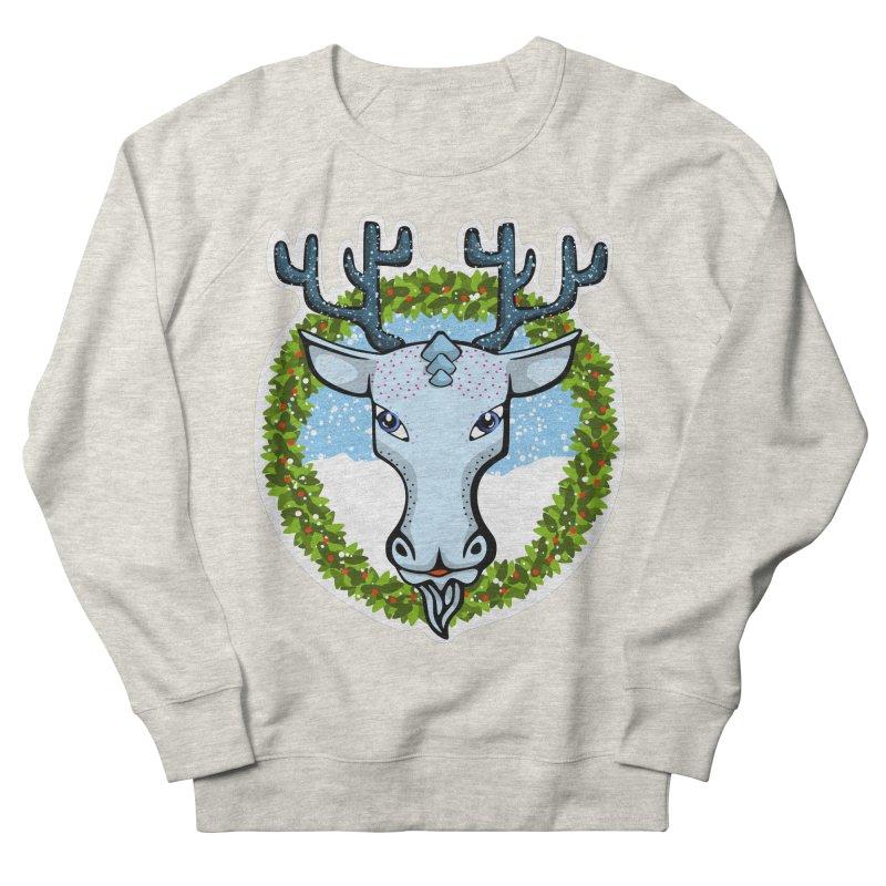Winter Spirit Animal Men's French Terry Sweatshirt by elledeegee's Artist Shop
