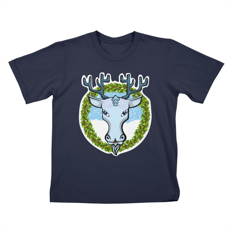 Winter Spirit Animal Kids T-Shirt by elledeegee's Artist Shop