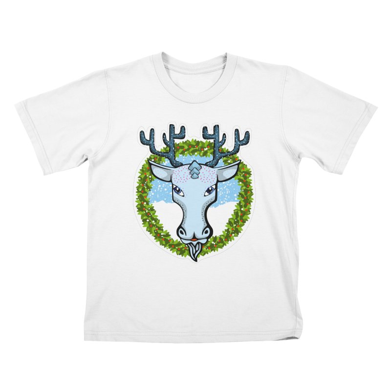 Winter Spirit Animal Kids T-Shirt by elledeegee's Artist Shop