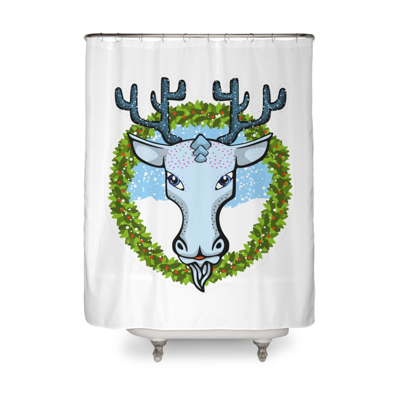 Winter Spirit Animal Home Shower Curtain by elledeegee's Artist Shop