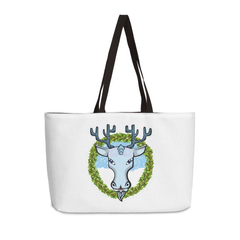 Winter Spirit Animal Accessories Weekender Bag Bag by elledeegee's Artist Shop