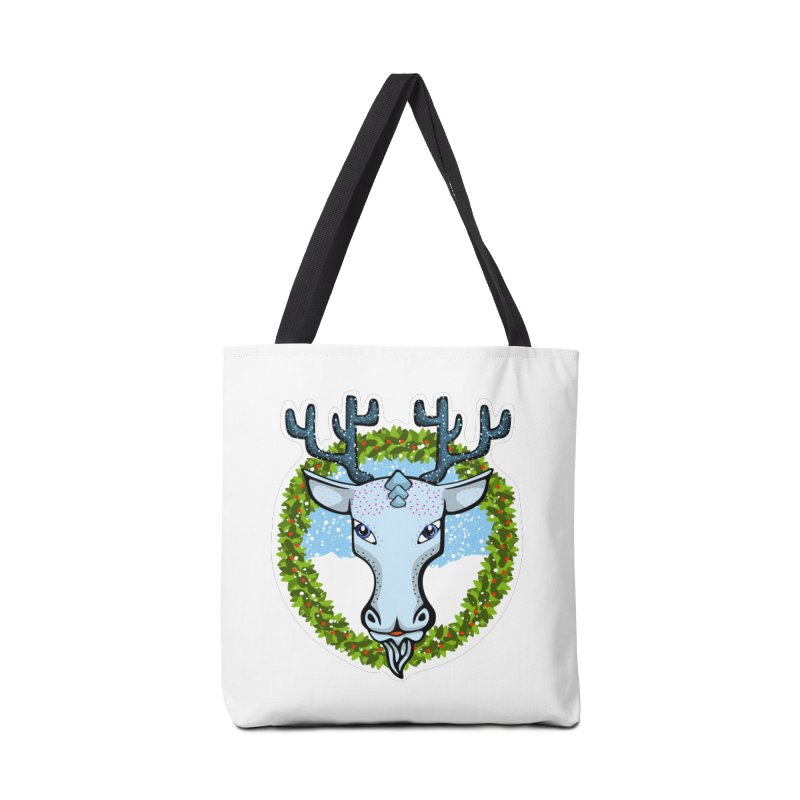 Winter Spirit Animal Accessories Tote Bag Bag by elledeegee's Artist Shop