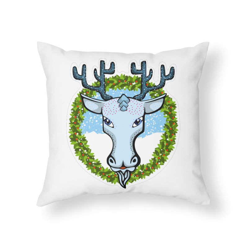 Winter Spirit Animal Home Throw Pillow by elledeegee's Artist Shop