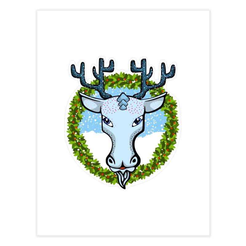 Winter Spirit Animal Home Fine Art Print by elledeegee's Artist Shop