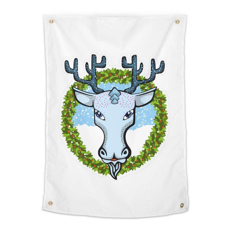 Winter Spirit Animal Home Tapestry by elledeegee's Artist Shop