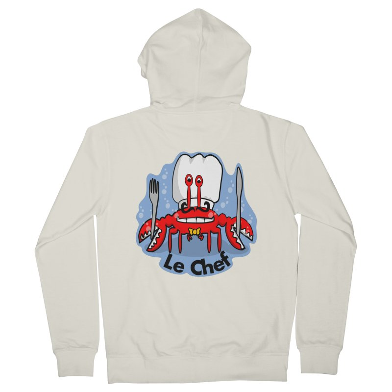 The Crabby Chef Men's Zip-Up Hoody by elledeegee's Artist Shop
