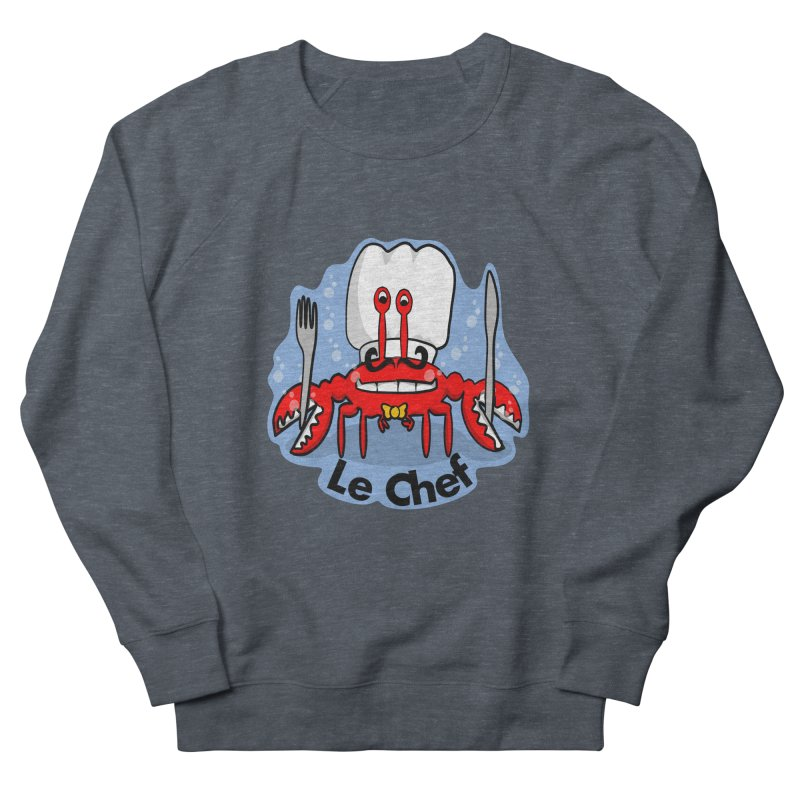 The Crabby Chef Men's French Terry Sweatshirt by elledeegee's Artist Shop