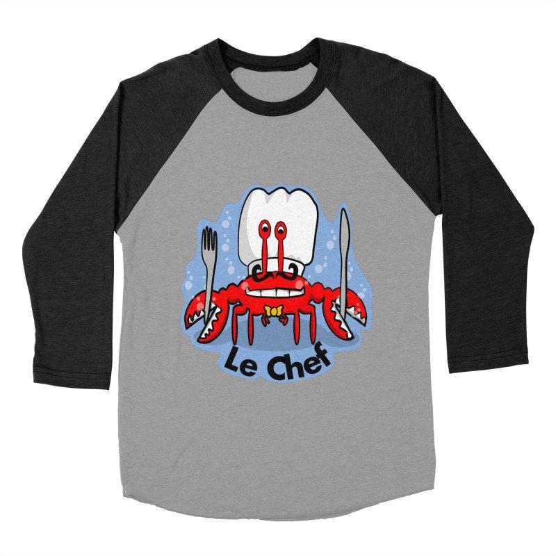 The Crabby Chef Women's Baseball Triblend Longsleeve T-Shirt by elledeegee's Artist Shop