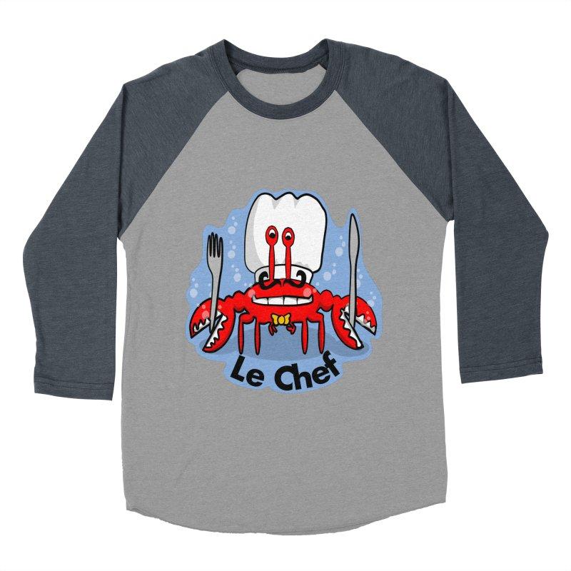 The Crabby Chef Women's Baseball Triblend T-Shirt by elledeegee's Artist Shop