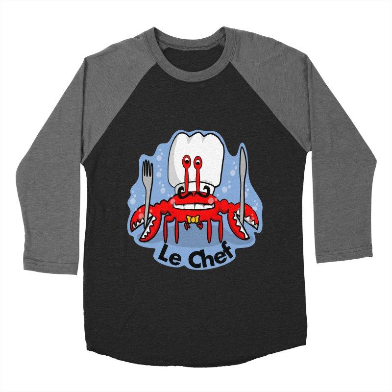 The Crabby Chef Men's Baseball Triblend Longsleeve T-Shirt by elledeegee's Artist Shop