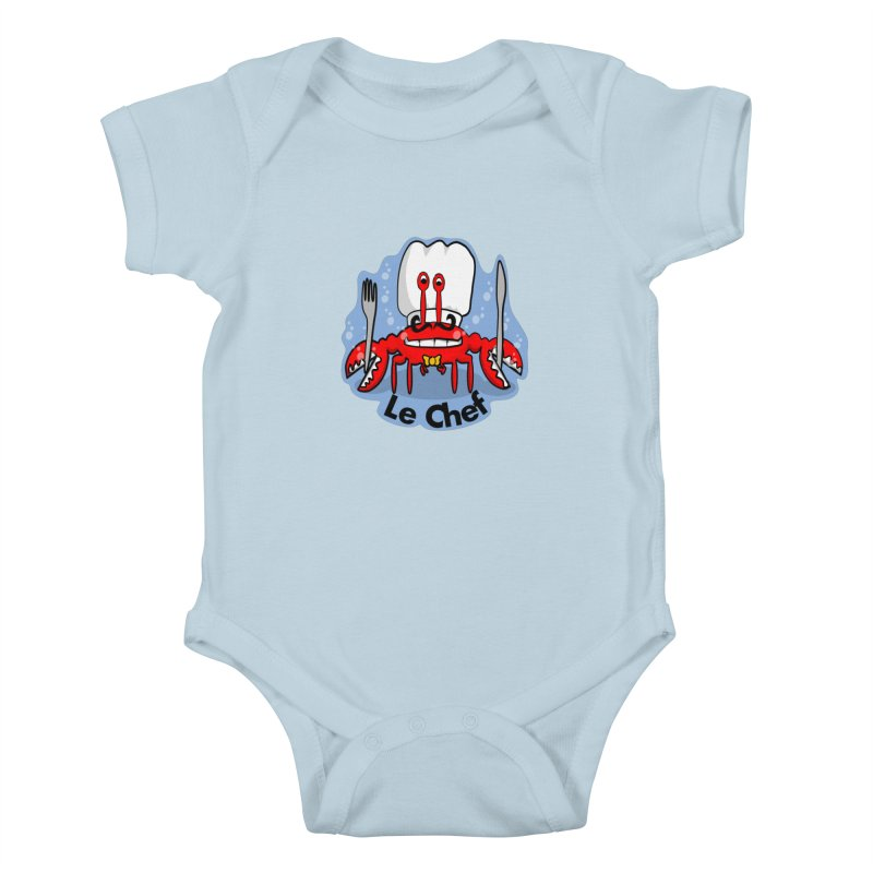The Crabby Chef Kids Baby Bodysuit by elledeegee's Artist Shop