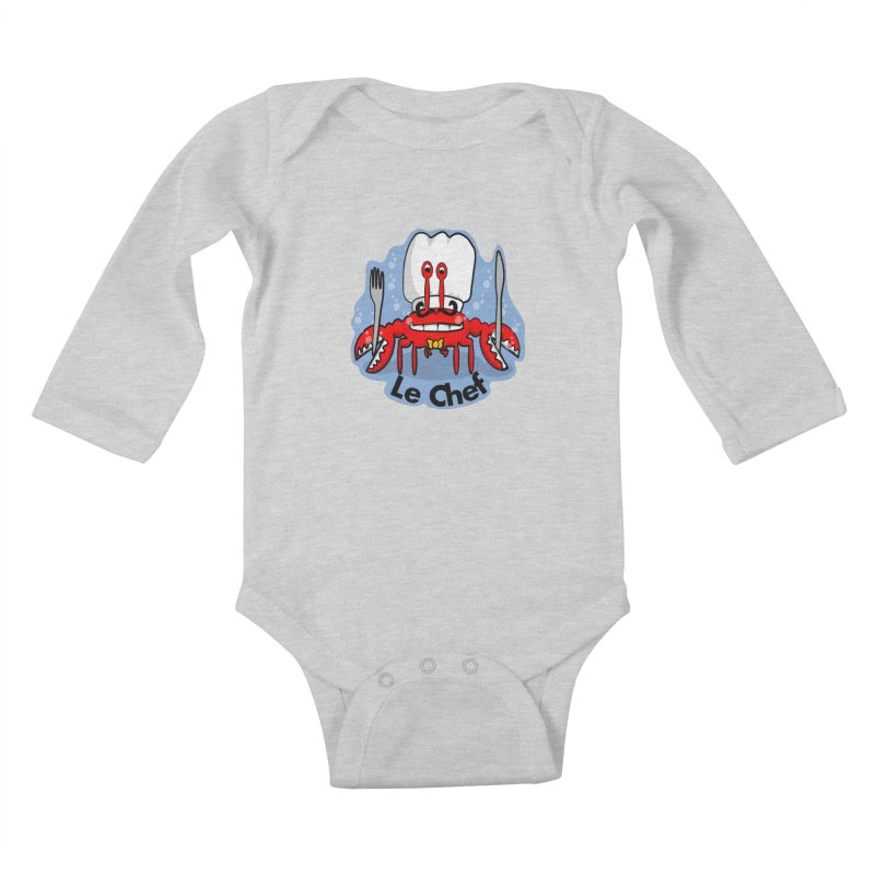 The Crabby Chef Kids Baby Longsleeve Bodysuit by elledeegee's Artist Shop