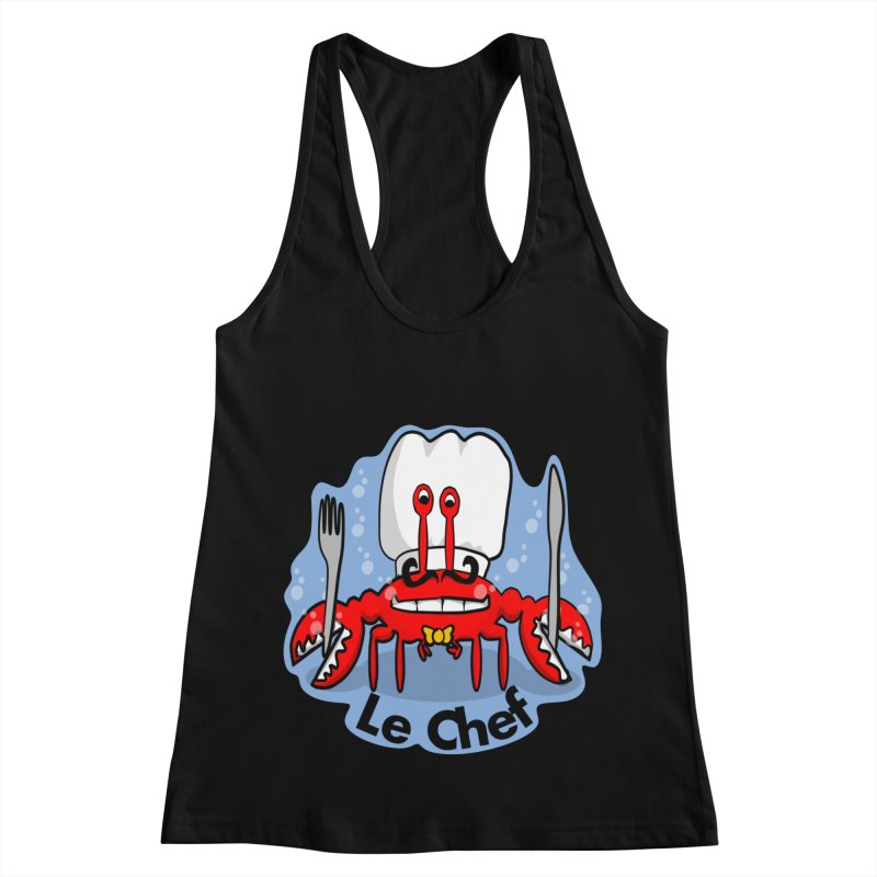 The Crabby Chef Women's Racerback Tank by elledeegee's Artist Shop