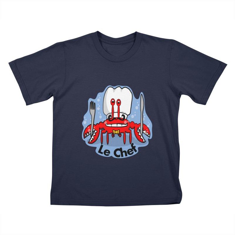 The Crabby Chef Kids T-Shirt by elledeegee's Artist Shop
