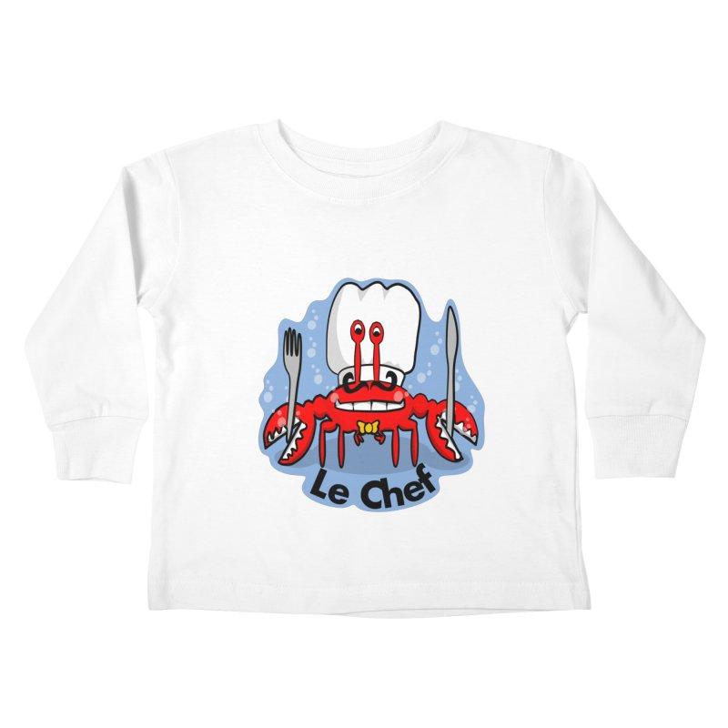 The Crabby Chef Kids Toddler Longsleeve T-Shirt by elledeegee's Artist Shop