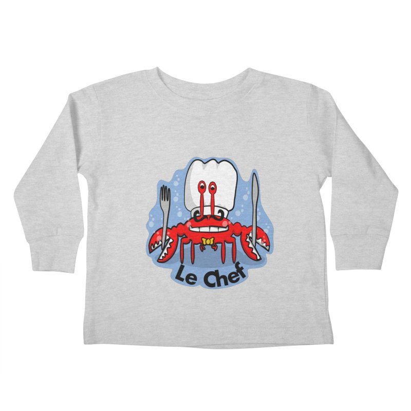 The Crabby Chef Kids Toddler Longsleeve T-Shirt by elledeegee's Artist Shop