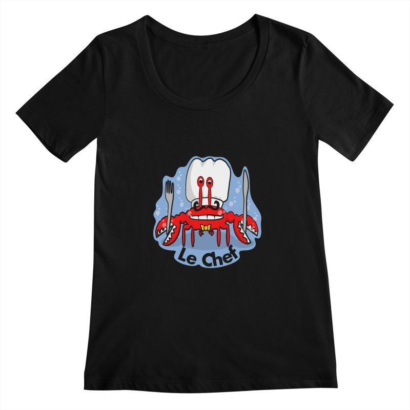 The Crabby Chef Women's Scoopneck by elledeegee's Artist Shop
