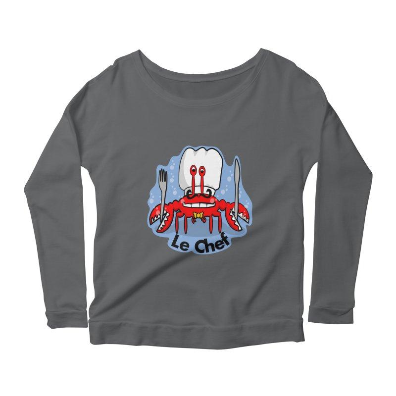 The Crabby Chef Women's Longsleeve T-Shirt by elledeegee's Artist Shop