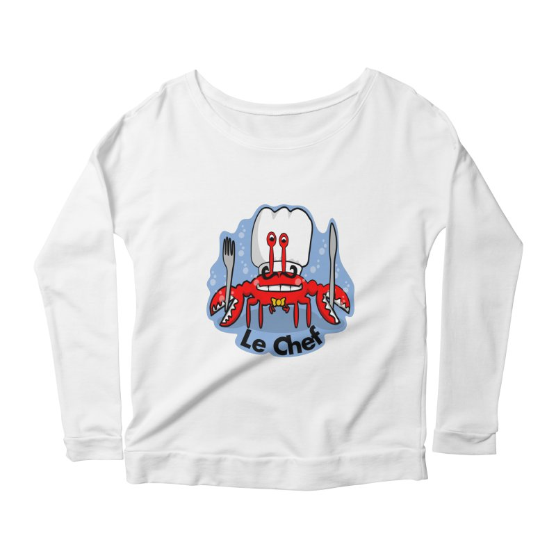 The Crabby Chef Women's Scoop Neck Longsleeve T-Shirt by elledeegee's Artist Shop