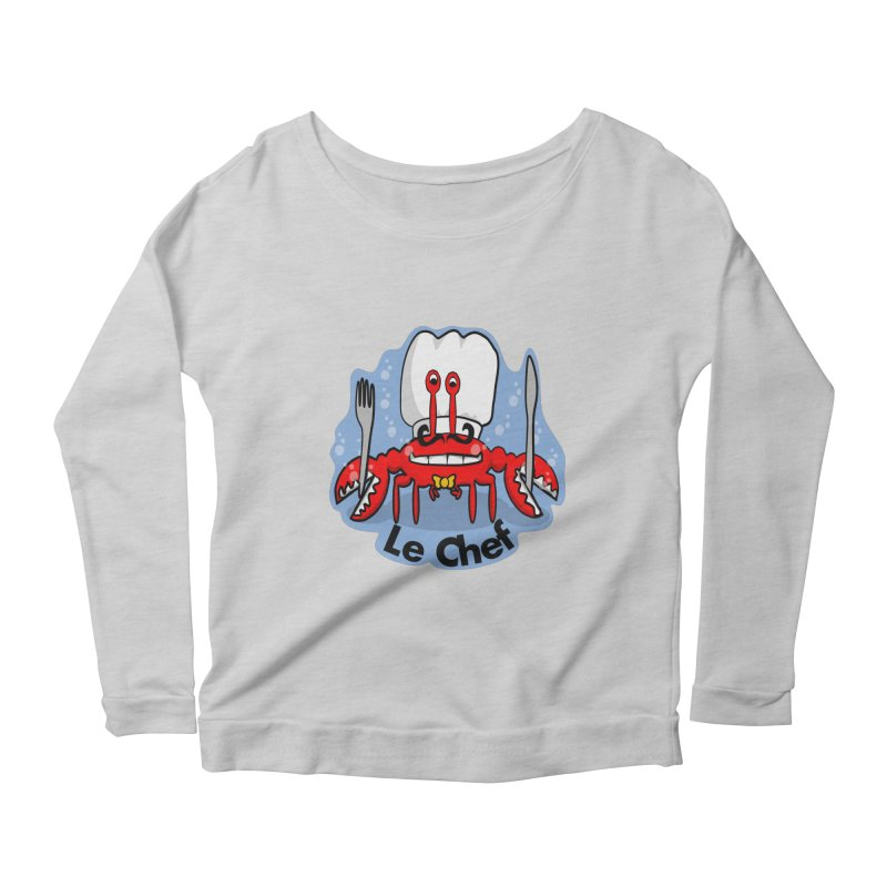 The Crabby Chef Women's Scoop Neck Longsleeve T-Shirt by elledeegee's Artist Shop